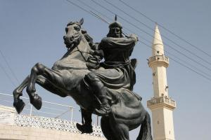 Statue of Salahuddin Ayubi in Jordan
