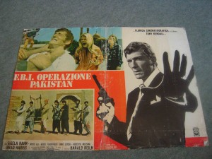 poster of 1973 film 'Operation Pakistan.' A B-grade film made by a Greek director, the film was released in Pakistan in 1973. It is about the adventures of an FBI agent who tracks down hashish smugglers in Turkey, Iran and Pakistan. The characters of Pakistanis  were all played by amateur Pakistani actors. The film was a box-office flop.
