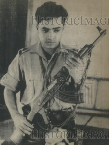 1971 photo of a young (Bengali) Pakistan army officer who switched sides and joined the East Pakistan rebels against the Pakistan Army. The Pakistan army was defeated by the Bengali nationalists and the Indian armed forces in December 1971. In 1972, East Pakistan became Bangladesh.