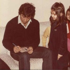 Imran Khan signing an autograph for a young fan in Lahore just before the start of the Pakistan-India series of 1978.