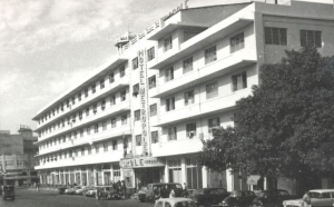 A 1960s shot of Karachi's famous Hotel Metropole that was famous for its night clubs and bars. The hotel today is being torn down and turned into a shopping and office complex. Half of it has already been turned into a 'wedding garden.' Behind it was the Palace Cinema that was extremely popular with college and university students. The cinema was torn down in the 1980s and has since been operating as a 'marriage hall.