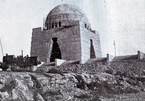 Mausoleum of Pakistan's founder, Muhammad Ali Jinnah, under construction in Karachi. This picture was taken in 1965. The imposing structure was finally completed almost five years later.