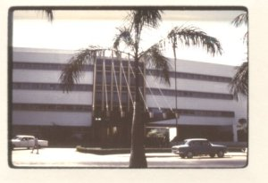 1967 image of the American Embassy in Karachi. It was one of the most recognisable buildings in Karachi's Abdullah Haroon Road area. Built in 1958, the Embassy, apart from handling the visa issuing operations, also had a large library. As can be seen in the picture, it hardly had any barriers or security and its doors were open to all. However, from the late 1980s onwards, when Islamist violence began to rise within Pakistan, the Embassy was fortified by a tall wall. Later, especially after the tragic 9/11 event and after the building faced at least three terror attacks in the 2000s, the walls were thickened, barriers placed and security tightened. The library that was hugely popular with Karachi's school and collage students was closed and the visa section was moved to Islamabad. In 2011, the building was abandoned and the Embassy was moved to a different location in Karachi. The building still stands, though.