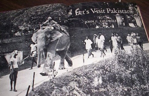 The first pages of a detailed book written by a professional travel writer from the United States. The book was published in early 1962 – a time when various American airlines and travel writers were heavily promoting Pakistan as a tourist destination. The image is that of Karachi's Zoological Garden that was then called the Gandhi Garden.
