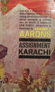 copy of famous spy novelist, Edward S. Arron's 1962 book 'Assignment Karachi.' The book was one of the many he wrote that involved the adventures of CIA agent Sam Durell in various cities across the world. This novel, which narrated the tale of Durell working with Pakistani authorities to capture Soviet-backed henchmen, became an instant best-seller in Pakistan. However, in a quirky twist, some copies of this novel were set on fire by pro-Soviet leftist students during a demonstration (at the Karachi University) against Ayub Khan's education policy in 1962.
