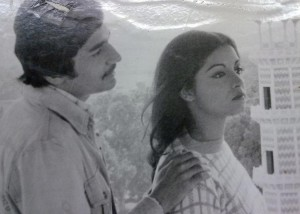 A still from one of the most famous one-off plays on Pakistan television, 'Quratul Ain' (1975). It starred Naveen Tajik (right), a Pakistani Christian, who, along with Roohi Bano and Uzma Gillani, was hailed as one of the finest TV actresses in Pakistan (in the 1970s). 'Quratul Ain' (scripted by Asfaq Ahmed) tells the story of a young man who wants to join the air force and is in love with a girl (Qurat). The play was part of PTV's 'Aik Muhabbat Soh Afsaney' series in which Sufi themes were set in modern urban settings. Naveen, though hugely successful as a TV actress and fashion model, failed to make a mark in films. She left for the US in the early 1980s.