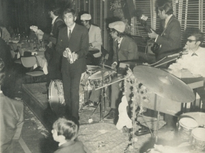 One of the rare photographs available of Karachi's famous nightclub scene of the late 1960s and 1970s. Live music, great food, lots of booze and dancing were the hallmarks of the scene. Shown here is a club band playing to a happy audience at a 'mid-range' nightclub in Karachi (in 1972).