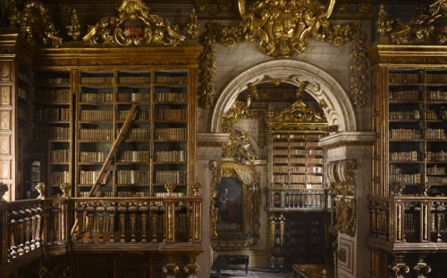 Portugal's João the Magnanimous astonished the rector of the University of Coimbra by telling him that his request for help towards library facilities was too modest; the lavish result was financed with gold reserves that had been recently discovered in Brazil. Picture: Will Pryce