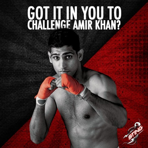 Amir khan the face of Pakistans energy drink sting #StingCHallenge