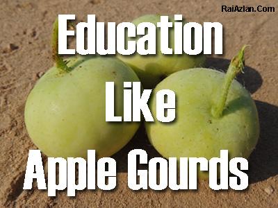 Education Like Apple Gourds by Rai Azlan